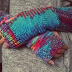 stricken bunte Socken selbstgemachtem