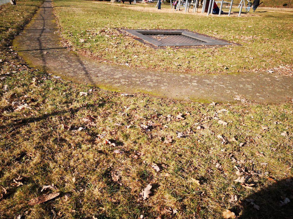 Spielplatz Sonne im Februar